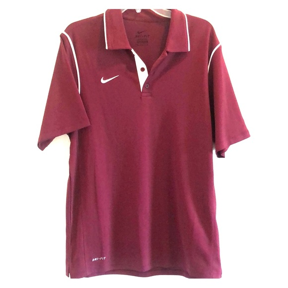 Nike Other - Men's maroon Nike dri-fit polo